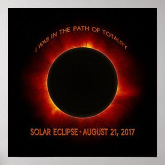 Póster Eclipse solar