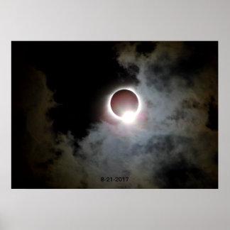 Póster Eclipse solar 21 de agosto de 2017