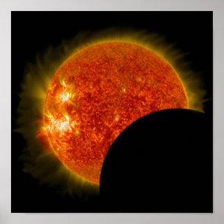 Póster Eclipse solar en curso