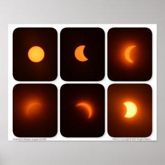 Póster Eclipse solar fotografía total de Sun del 21 de