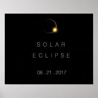 Póster Eclipse solar total 2017