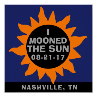 Póster Eclipse solar total estuve en la luna el Sun
