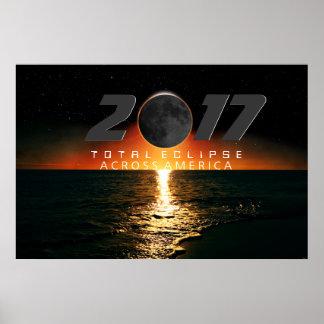 Póster Eclipse total a través del poster de América