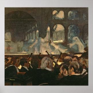 Póster Edgar Degas el   la escena del ballet, la ópera de