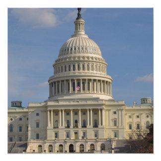 Póster Edificio de Capitol Hill del Washington DC