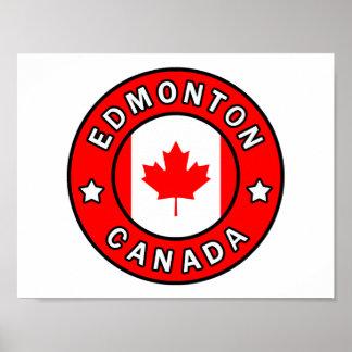 Póster Edmonton Canadá