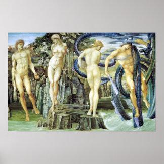 Póster Edward Burne-Jones Perseus y Andromeda