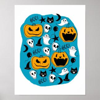 Póster Ejemplo de las criaturas de Halloween