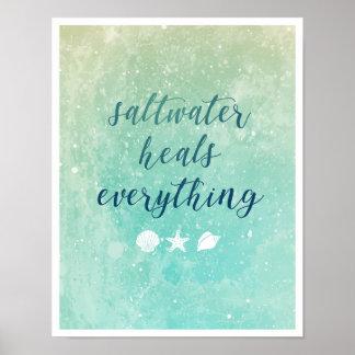 Póster El agua salada cura todo poster del |