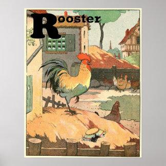 Póster El alfabeto del guión del gallo