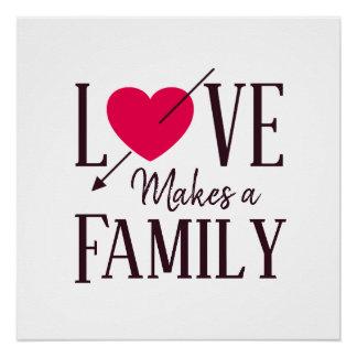 Póster El amor hace a una familia - regalo de la adopción