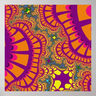 Póster El arco iris púrpura anaranjado remezcla el poster