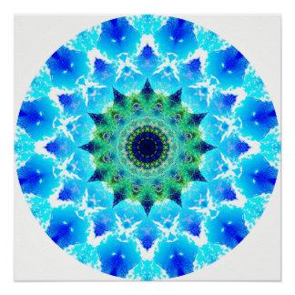 Póster El azul agita la mandala