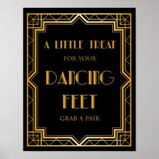 Póster El baile calza art déco de la muestra el   Gatsby