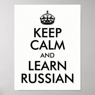 Póster El blanco y el negro guardan calma y aprenden ruso