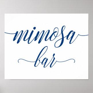 Póster El boda de la barra del Mimosa firma adentro