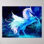 Póster El bosque del unicornio protagoniza el azul de