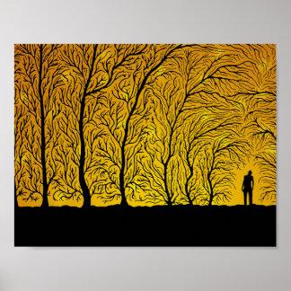 Póster El bosque susurra (poster del color 1)
