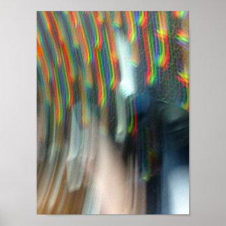 Póster El caer a través de los arco iris