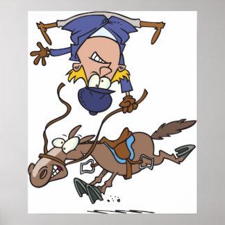 Póster El caer apagado un poster del caballo