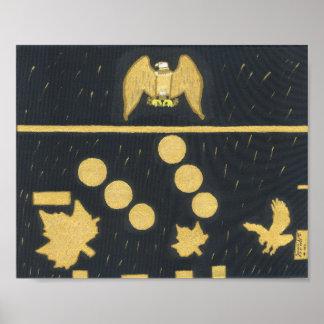 Póster El caer fina del oro de Eagle