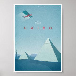 Poster El Cairo del viaje del vintage Póster