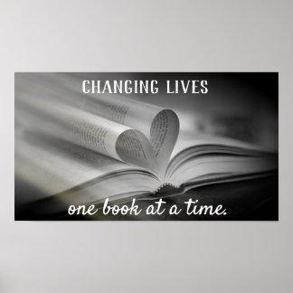 Póster El cambio vive un poster del libro a la vez
