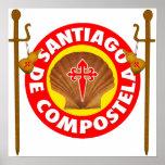 Póster EL Camino de Santiago de Compostela