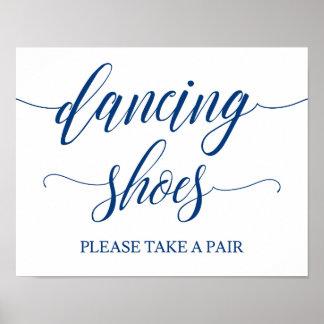 Póster El casarse de los zapatos del baile firma adentro
