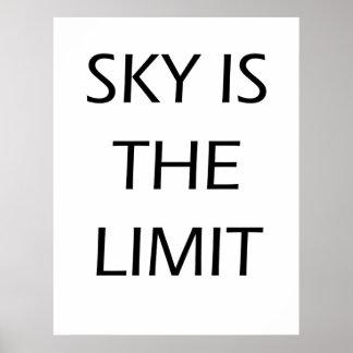 Póster El cielo es el límite - poster de motivación
