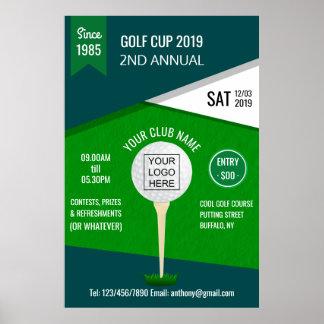 Póster El club/el torneo corporativo del golf añade el