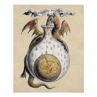 Póster El crisol del dragón de alquimia