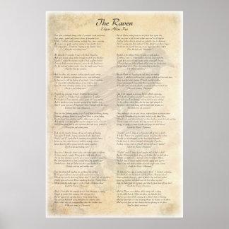 Póster El cuervo de Edgar Allen Poe