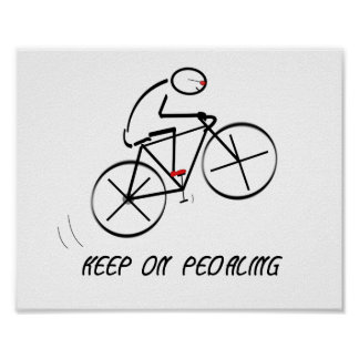 Póster El diseño del Bicyclist de la diversión con