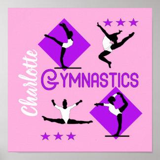 Póster El gimnasta figura la gimnasia linda de los chicas