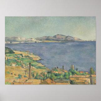 Póster El golfo de Marsella visto de L'Estaque