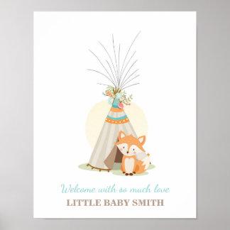 Póster El guestbook de la fiesta de bienvenida al bebé