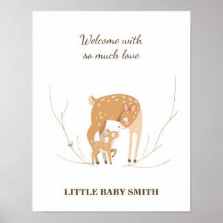 Póster El guestbook de la fiesta de bienvenida al bebé de