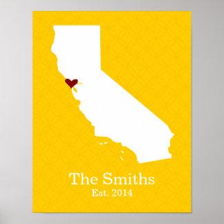 Póster El hogar es donde está su corazón - California
