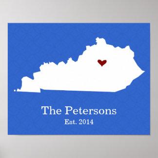 Póster El hogar es donde está su corazón - Kentucky