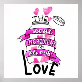 Póster El ingrediente secreto es siempre amor