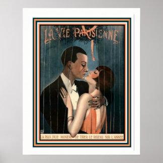Póster El La del art déco compite Parisienne 16 x 20