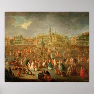 Póster El lugar magnífico durante carnaval, Cambrai, 176