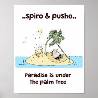 Póster El mar de Spiro y de Pusho cita el poster 8x10 de