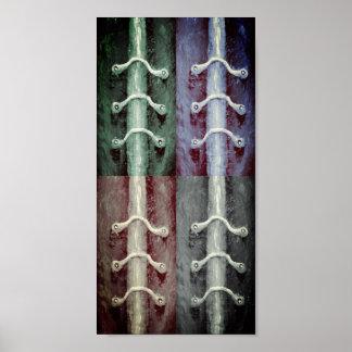 Póster El Minimalism industrial colorea diseño abstracto