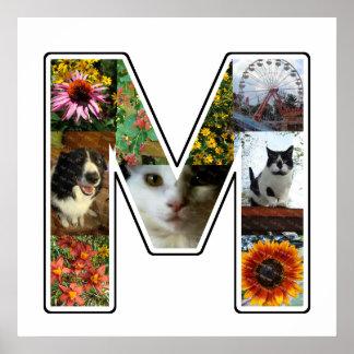 Póster El monograma de M crea su propio collage de la