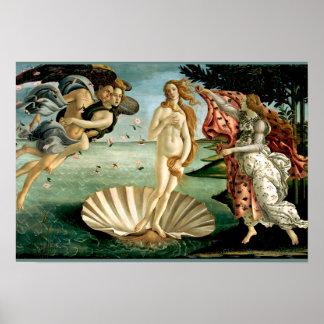 Póster El nacimiento de Venus por Botticelli