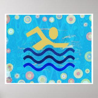 Póster El nadar:  Los tiempos calientes refrescan mente