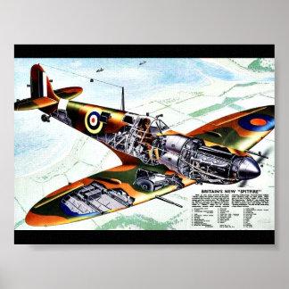 Póster El nuevo Spitfire de Gran Bretaña