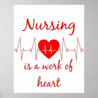Póster El oficio de enfermera es un trabajo de la cita
